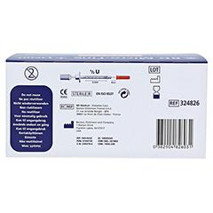 BD MICRO-FINE+ Insulinspr.0,3 ml U100 0,3x8 mm 100 Stück - Rückseite
