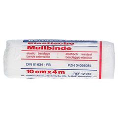 MULLBINDEN elastisch 10 cmx4 m 1 Stück - Rückseite