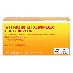 Vitamin B Komplex forte Hevert Tabletten 100 Stück N3 - Oberseite