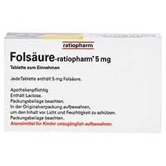 FOLSÄURE RATIOPHARM 5 mg Tabletten 100 Stück N3 - Oberseite