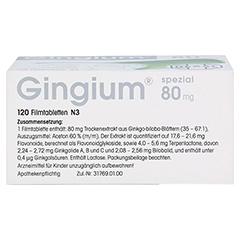 Gingium spezial 80mg 120 Stück N3 - Oberseite