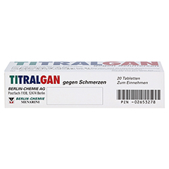 TITRALGAN gegen Schmerzen 20 Stück N2 - Unterseite