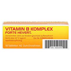 VITAMIN B KOMPLEX forte Hevert Tabletten 50 Stück N2 - Unterseite