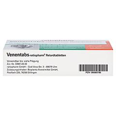 Venentabs-ratiopharm 100 Stück N3 - Unterseite
