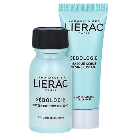 LIERAC Sébologie Anti-Pickel-Konzentrat + gratis LIERAC Sébologie Peeling-Maske 10 ml 15 Milliliter
