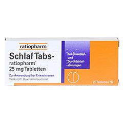 SchlafTabs-ratiopharm 25mg 20 Stück N2 - Vorderseite