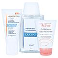 DUCRAY MELASCREEN Photoaging UV Cr.leicht SPF 50+ + gratis Avène Hygiene-Set 40 Milliliter