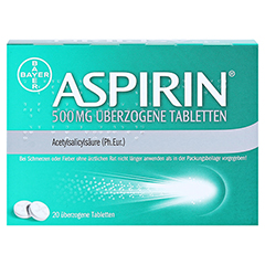Aspirin 500mg 20 Stück - Rückseite