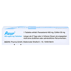 Azur 450mg/50mg 20 Stück N2 - Oberseite