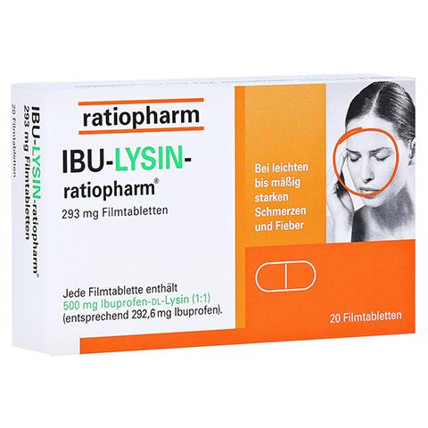 IBU-LYSIN-ratiopharm 293mg 20 Stück