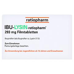 IBU-LYSIN-ratiopharm 293mg 20 Stück - Rückseite