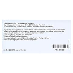 GLANDULAE PARATHYREOIDEAE GL D 30 Ampullen 10x1 Milliliter N1 - Rückseite