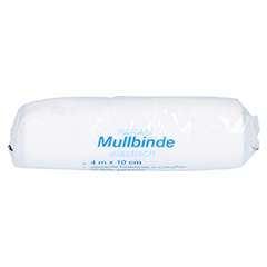 MULLBINDEN elast.10 cm m.Cellophan 1 Stück