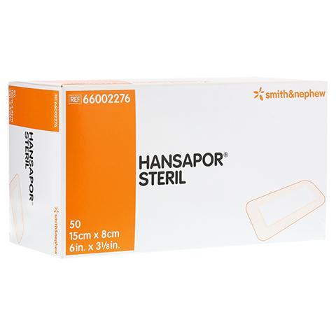 HANSAPOR steril Wundverband 8x15 cm 50 Stück