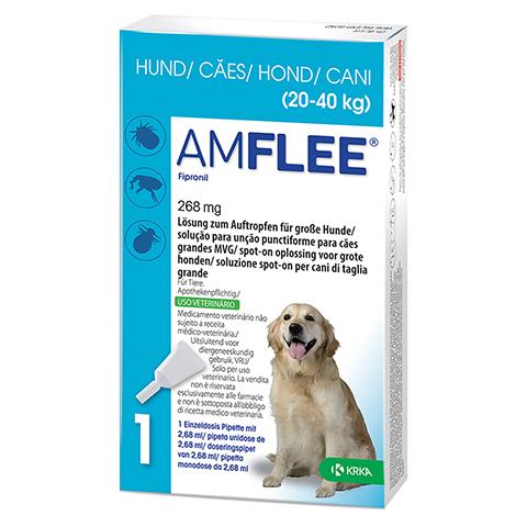 AMFLEE 268 mg Spot-on Lsg.f.große Hunde 20-40kg 3 Stück