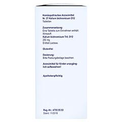 BIOCHEMIE Orthim 27 Kalium bichromicum D 12 Tabl. 400 Stück N3 - Linke Seite