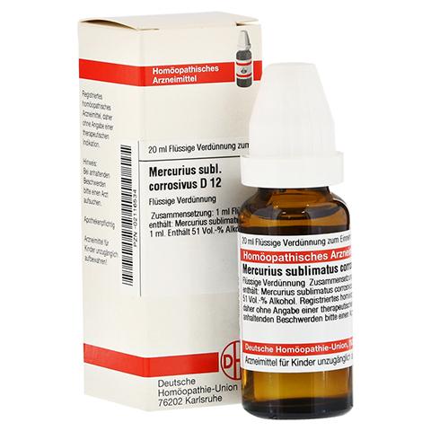 MERCURIUS SUBLIMATUS corrosivus D 12 Dilution 20 Milliliter N1