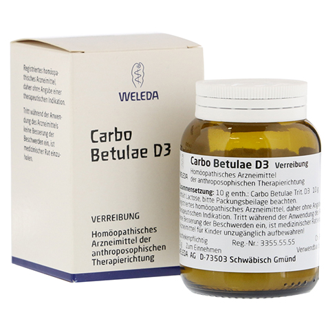 CARBO BETULAE D 3 Trituration 50 Gramm N2