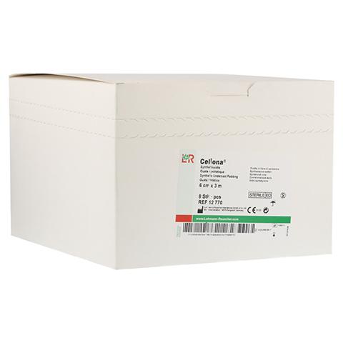CELLONA Synthetikwatte 6 cmx3 m steril 8 Stück