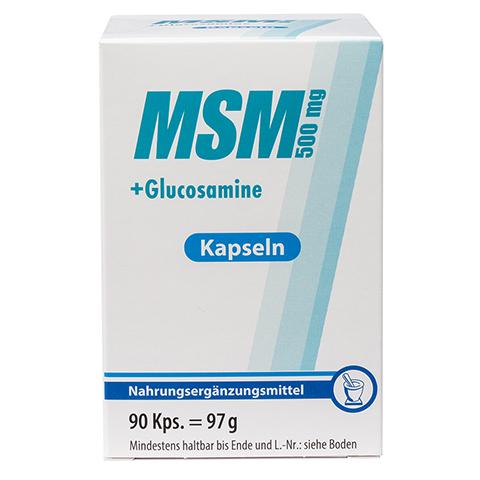 MSM 500 mg+Glucosamine Kapseln 90 Stück