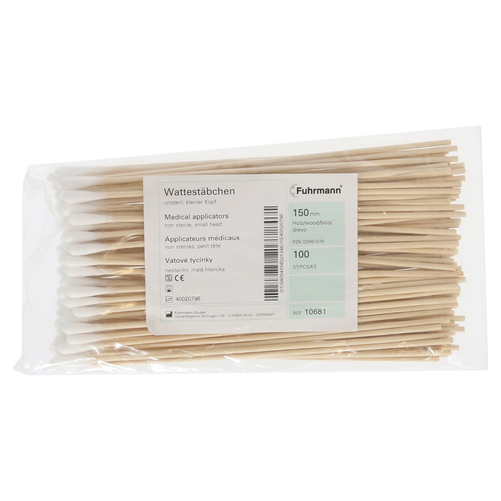 Wattestäbchen Holz Kleiner Kopf 15 Cm 100 Stück Online Bestellen