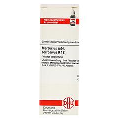 MERCURIUS SUBLIMATUS corrosivus D 12 Dilution 20 Milliliter N1 - Vorderseite
