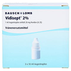 VIDISEPT 2% Augentropfen 3x10 Milliliter N3 - Vorderseite