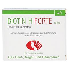 Biotin H forte 10mg 40 Stück - Vorderseite