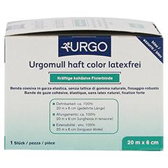 URGOMULL haft color latexfrei 6 cmx20 m blau 1 Stück - Linke Seite