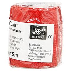 BORT StabiloColor Binde 6 cm rot 1 Stück - Linke Seite