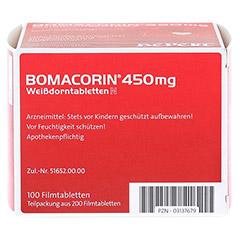 Bomacorin 450mg Weißdorntabletten N 200 Stück - Unterseite
