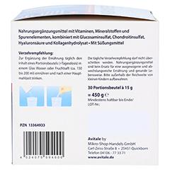 GELENKNAHRUNG+Hyaluronsäure Trinkgranulat 30x15 Gramm - Rechte Seite