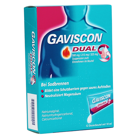 GAVISCON Dual 500mg/213mg/325mg Suspens.im Beutel 12x10 Milliliter