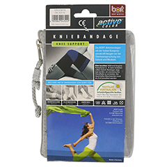 BORT ActiveColor Kniebandage xx-large schwarz 1 Stück - Rückseite