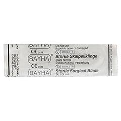 SKALPELLKLINGEN Bayha Fig.15 steril 12 Stück - Rückseite