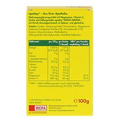 APODAY Kirsch Magnesium+Vitamin C Pulver 10x10 Gramm - Rückseite