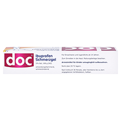 Doc Ibuprofen Schmerzgel 5% 100 Gramm N2 - Oberseite