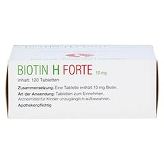 Biotin H forte 10mg 120 Stück - Unterseite