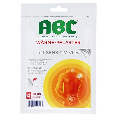 ABC Wärme-Pflaster mit Sensitive-Vlies 9,85mg Hansaplast med 4 Stück