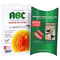 ABC Wärme-Pflaster mit Sensitive-Vlies 9,85mg Hansaplast med + gratis Fitnessband + Buch 4 Stück