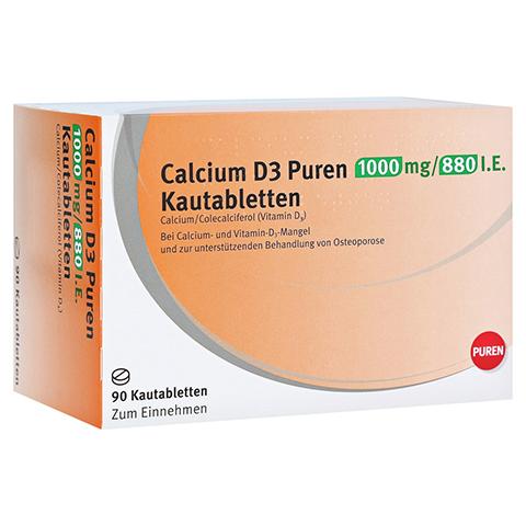 Calcium D3 PUREN 1000mg/880 I.E. 90 Stück
