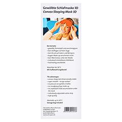 OHROPAX Schlafmaske 3D orange 1 Stück - Rückseite