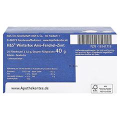 H&S Wintertee Anis-Fenchel-Zimt Filterbeutel 20x2.0 Gramm - Unterseite