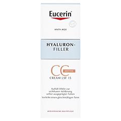 Eucerin Hyaluron-Filler CC Cream Mittel + gratis Eucerin Hyaluron Filler Serum 5 ml 50 Milliliter - Vorderseite