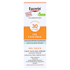 EUCERIN Sun Gel-Creme Oil Contr.Anti-Gl.Eff.LSF 30 50 Milliliter - Vorderseite