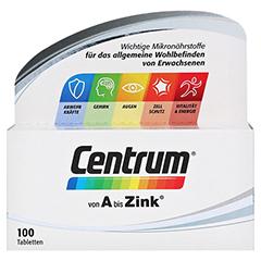 CENTRUM A-Zink+FloraGlo Lutein Caplette 100 Stück - Vorderseite