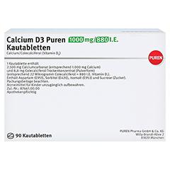 Calcium D3 PUREN 1000mg/880I.E. 90 Stück - Rückseite