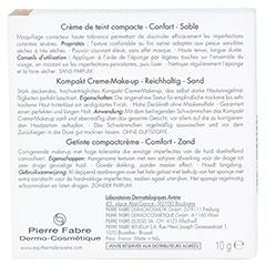 AVENE Couvrance Kompakt Cr.-Make-up reich.sand 3 10 Gramm - Rückseite