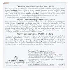 Avène Couvrance Kompakt Creme-Make-up mattierend sand 10 Gramm - Rückseite