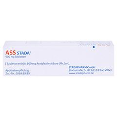 ASS STADA 500mg 30 Stück N2 - Oberseite